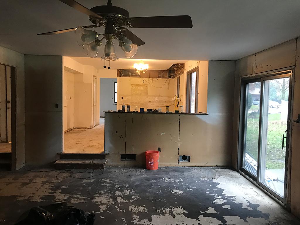 Demolition Cherry Hill remodel
