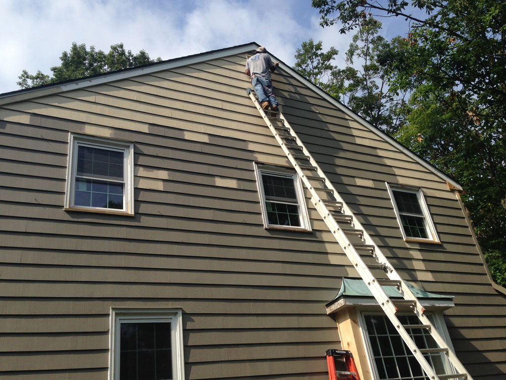 Exterior: Painting Exterior Of Fox Hollow Cherry Hill Fixer Upper